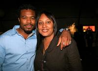 Lyriq Bent and Bridget D. Davis at the after party of