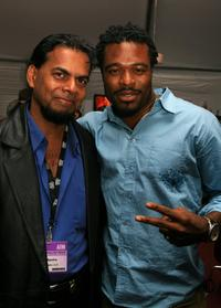 Earl Nahu and Lyriq Bent at the AFI FEST 2006.