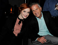 Christina Hendricks and producer Marc Platt at the California premiere of