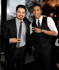 Michael Pena and Cory C. Hardrict at the California premiere of