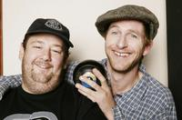 Johnny Vegas and Paul Kaye at the studio session of