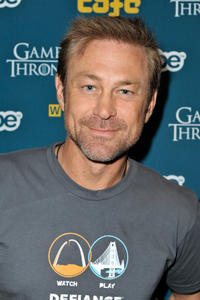 Grant Bowler at the WIRED Cafe at Comic-Con in California.