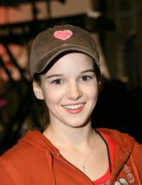 Kay Panabaker at the Orange County Fylers game.