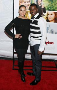 Derek Luke and guest at the premiere of