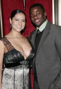 Derek Luke and wife Sophia at the premiere of