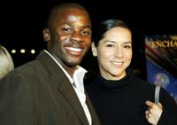 Derek Luke and wife Sophia Adella Hernandez at the premiere of