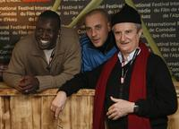 Omar Sy, Fred Testot and Daniel Prevost at the opening night of the 10th International Comedy Film Festival of