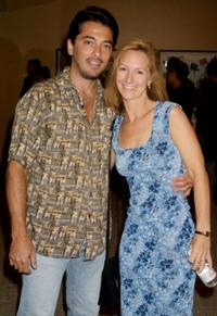 Scott Baio and Ellie Kanner at the premiere of