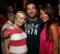 Rene Sloan, Scott Baio and Stella Stolper at the VH1 Back to School Party.