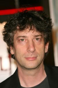 Neil Gaiman at the premiere of