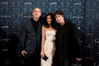 Henry Selick, Teri Hatcher and Neil Gaiman at the premiere of
