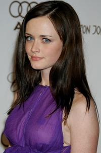Alexis Bledel at the 14th Annual Elton John Academy Awards viewing party.