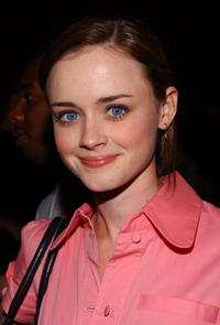 Alexis Bledel at the Louis Verdad fashion show during the Mercedes Benz Fashion week.