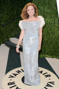 Diane Von Furstenberg at the 2013 Vanity Fair Oscar party in California.