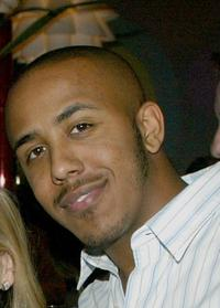 Marques Houston at the CBS & UPN Winter Press Tour party.