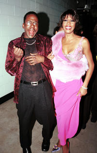Bobby Brown and Whitney Houston at the 42nd Annual Grammy Awards in Los Angeles.