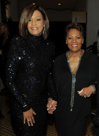 Whitney Houston and Singer Dionne Warwick at the 2011 Pre-GRAMMY Gala in California.