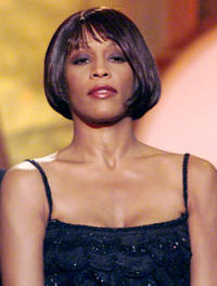 Whitney Houston at the 41st Annual Grammy Awards in California.
