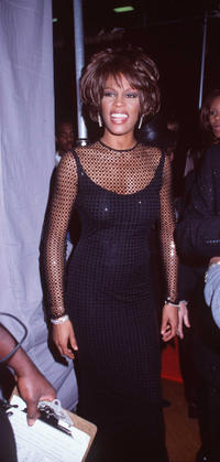 Whitney Houston at the 12th Annual Soul Train Music Awards in California.