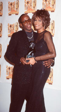 Bobby Brown and Whitney Houston at the 12th Annual Soul Train Music Awards in California.