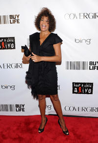 Whitney Houston at the 2010 Keep A Child Alive's Black Ball in New York.