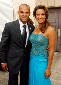 Amaury Nolasco and Eva LaRue Callahan at the 2007 NCLR ALMA Awards.