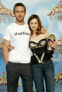Ryan Gosling and Rachel McAdams at the 2005 MTV Movie Awards.