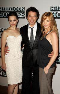 Rachel McAdams, Robert Downey Jr. and Kelly Reilly at the pre-production press conference of