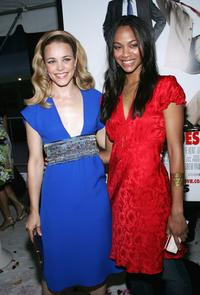 Rachel McAdams and Zoe Saldana at the premiere of