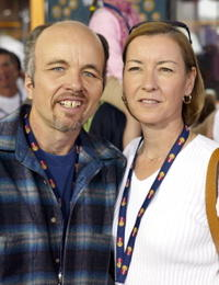 Clint Howard and wife Melanie at the world premiere of