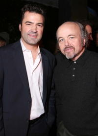 Clint Howard and Ron Livingston at the after party for MGM's