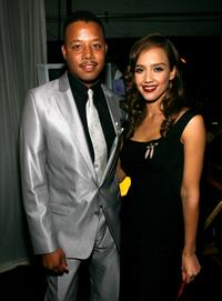 Terrence Howard and Jessica Alba at the 2007 NCLR ALMA Awards.