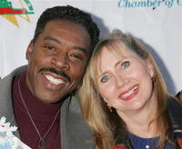 Ernie Hudson and his wife Linda at the 2005 Hollywood Christmas Parade.