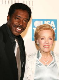 Ernie Hudson and Zina Bethune at the USA Today's First Hollywood Hero Award Gala.