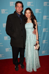 Rhys Muldoon and Zhu Lin at the Sydney premiere of