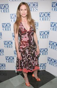 Holly Hunter at the 50th Annual Village Voice OBIE Awards.