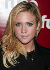 Brittany Snow at Fuse TV's Grammy party in Hollywood.