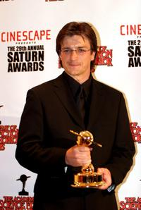 Nathan Fillion at the 29th Annual Saturn Awards.