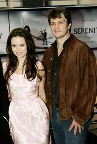 Summer Glau and Nathan Fillion at the UK premiere of
