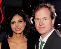 Morena Baccarin and Joss Whedon at the premiere of