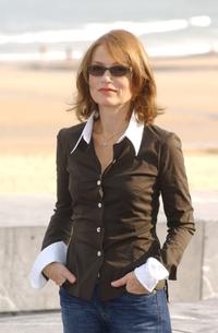 Isabelle Huppert at the 50th San Sebastian Film Festival .