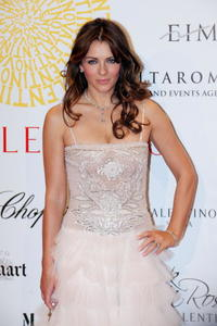 Elizabeth Hurley at the post haute couture show gala dinner and ball.