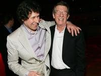 John Hurt and Stephen Rea at the New York premiere of