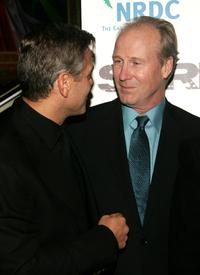 William Hurt and George Clooney at the premiere of