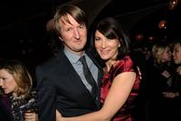 Tom Hooper and Eve Best at the after party for
