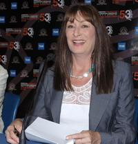 Anjelica Huston at the pre awards ceremony press conference of the 53rd San Sebastian International Film Festival.