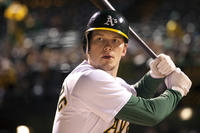 Chris Pratt as Scott Hatteberg in ``Moneyball.''