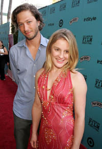 Ebon Moss-Bachrach and Catherine Kellner at the premiere of