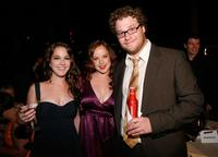 Martha MacIsaac, Aviva and Seth Rogen at the after party of the premiere of