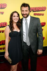 Martha MacIsaac and Judd Apatow at the premiere of